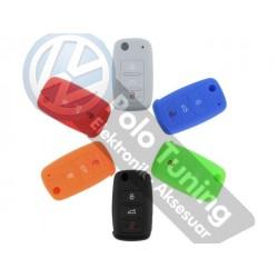 Volkswagen - Seat - Skoda Silikon Anahtarlık Kılıfı 1.sınıf