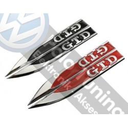 GTD Çamurluk logosu Golf - Polo - Passat - Jetta - Caddy - Transporter